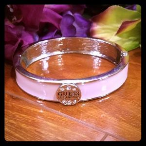 Guess Light Pink Bangle Bracelet